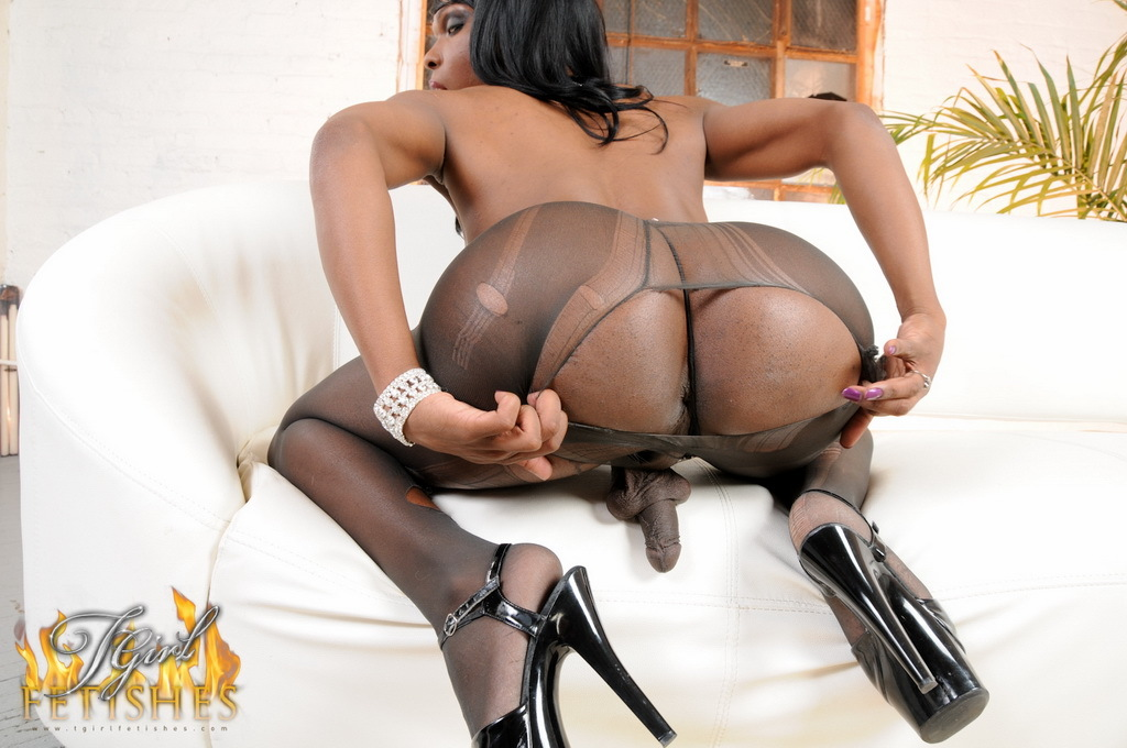 Chocolate Femboy Gabriella Teasing In Pantyhose