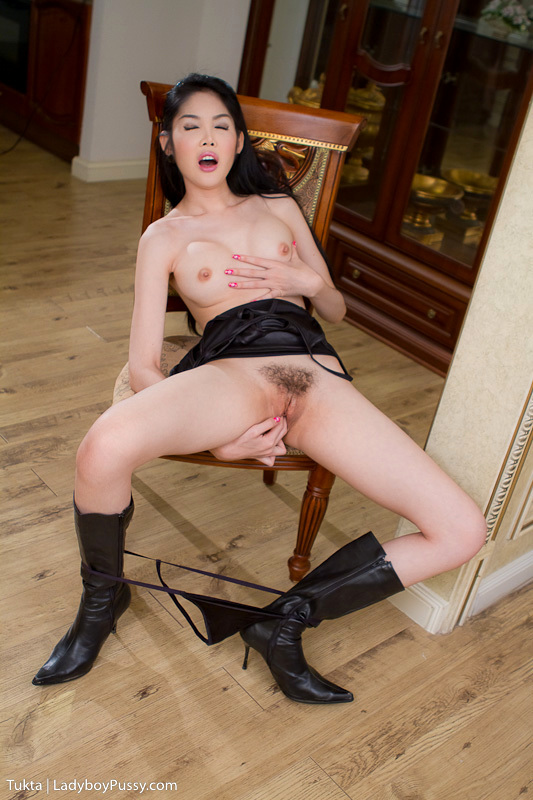 Long Leg Post Op Tukta In Black Boots And Starved Black Skirt