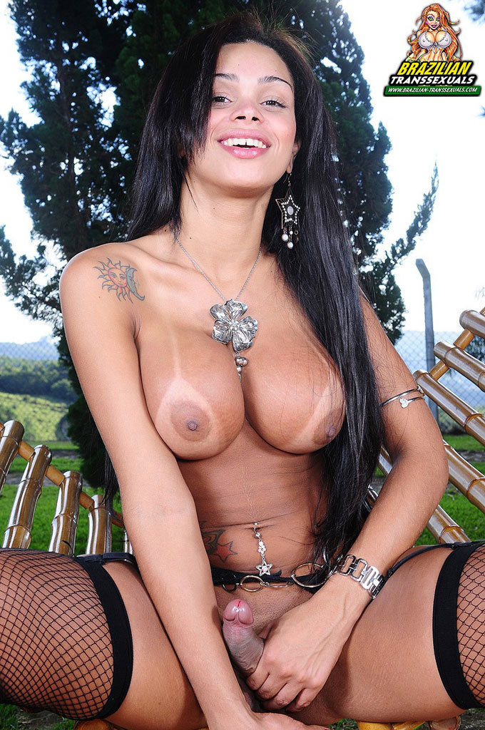 Smoking Titillating Brazilian T-Girl Babe!